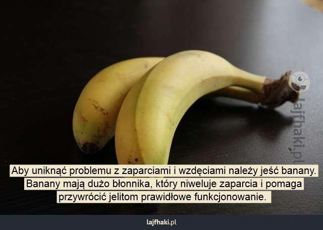 Problem z zaparciami - Aby uniknąć problemu z zaparciami i wzdęciami należy jeść banany. Banany mają dużo błonnika, który niweluje zaparcia i pomaga przywrócić jelitom prawidłowe funkcjonowanie.