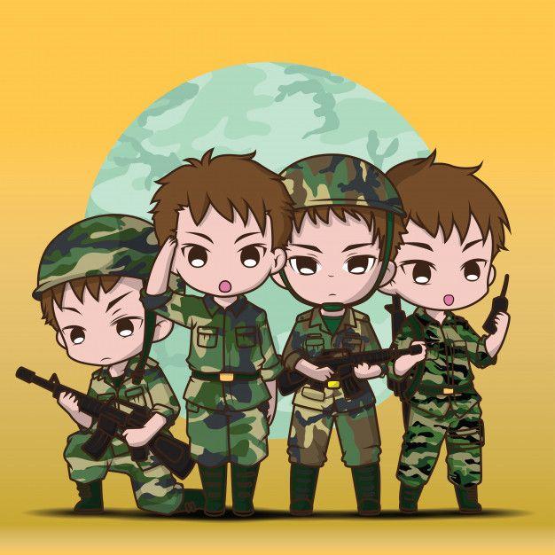 Simpatichnyj Soldat Armii Malchik Ustanovit Multfilm Army Day Cartoon Indian Army Wallpapers Cool cartoon army image wallpaper