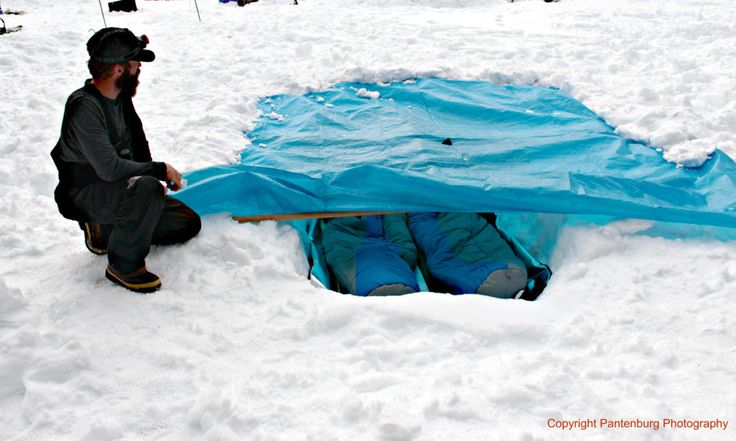 Learn these eight tarp and equipment tips for emergency snow shelter camping