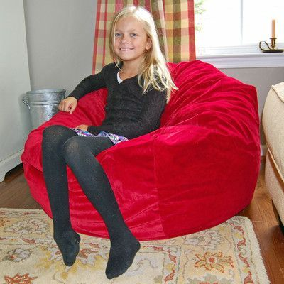 Ahh Products Bean Bag Chair Upholstery Red Products In