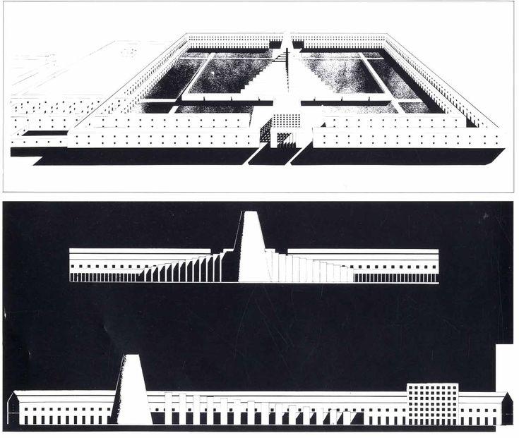 Clássicos da Arquitetura: Cemitério de San Cataldo,Desenhos
