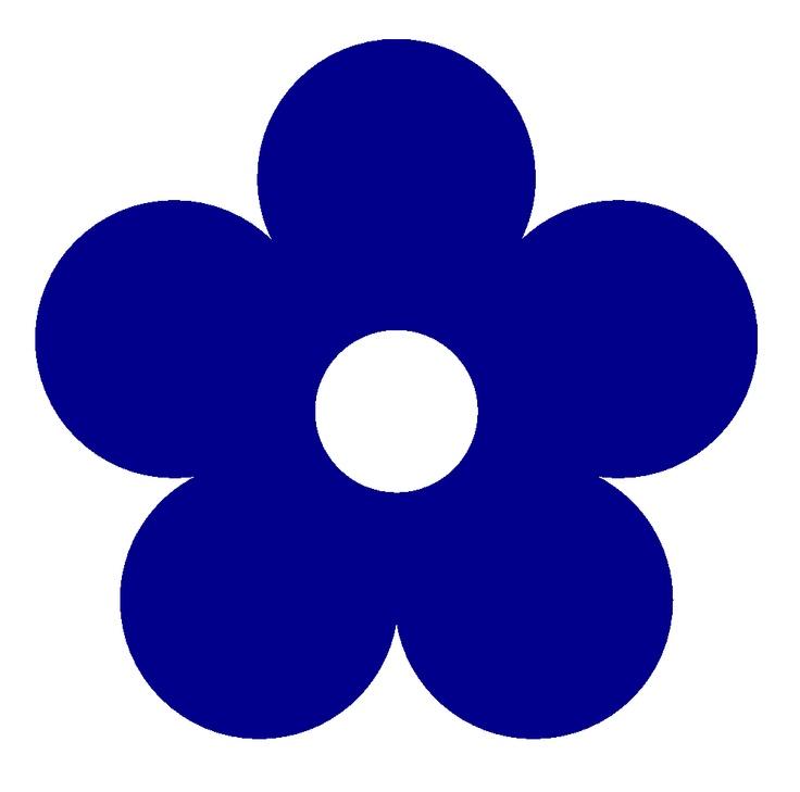 Retro Flower 1 Color Colour Dark Blue Peace xochi.info SupaRedonkulous Flowers Flower Art Clip Art Clipart clipartist.net openclipart.org Scalable Vector Graphics SVG