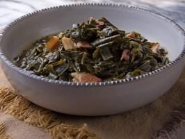 """Collard Greens - Tia Mowry, """"Tia Mowry at Home"""" on the Cooking Channel."""