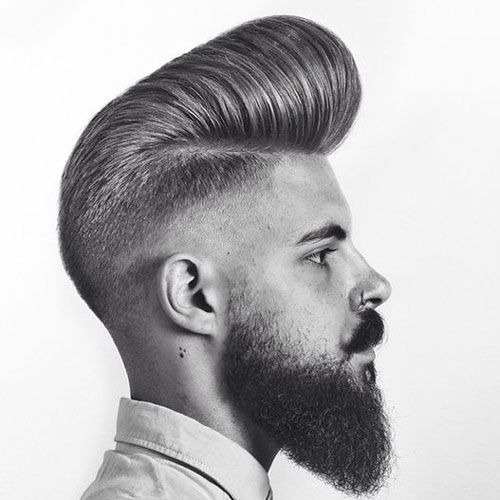 The Classic Pompadour Haircut with Beard