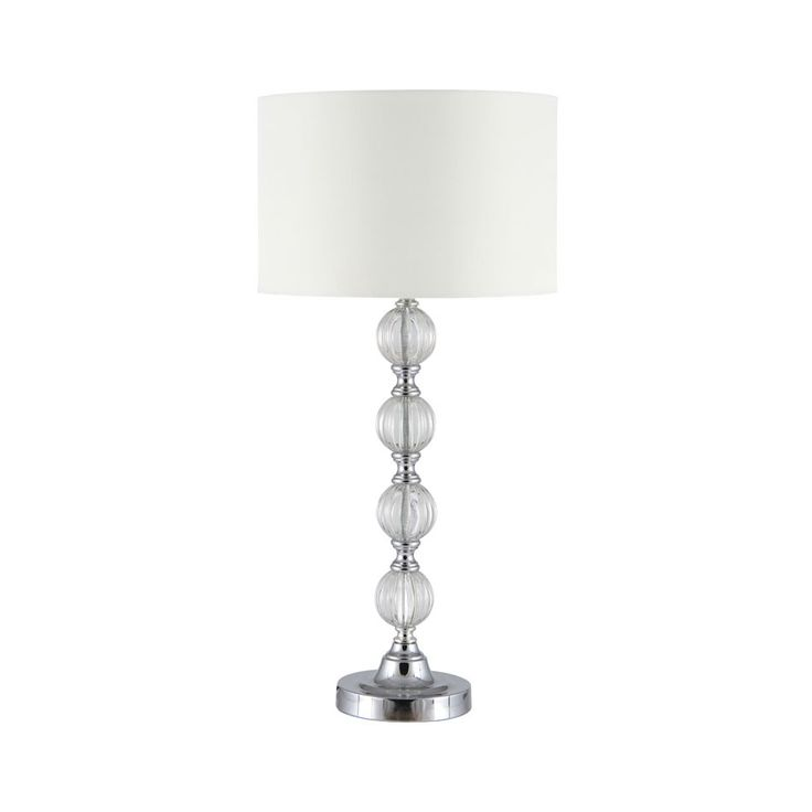 Lebus silver and clear acrylic table lamp
