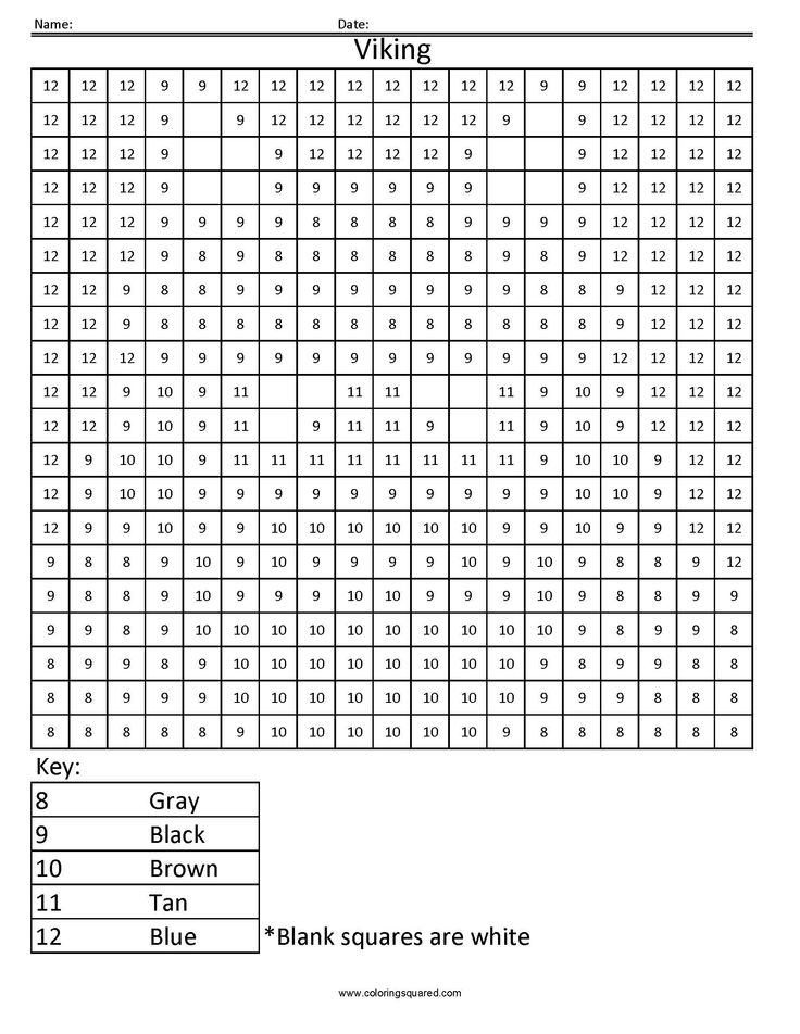 Free Color By Number Worksheets To Coloring By