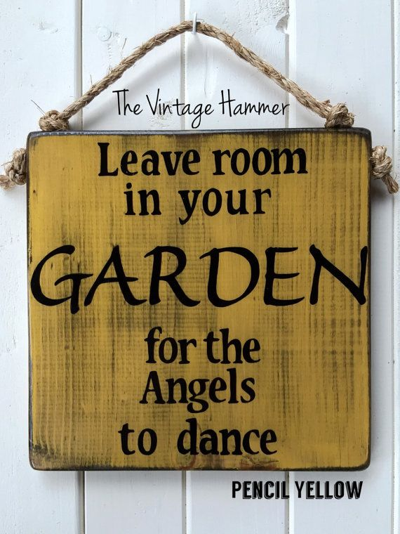 Leave Room in Your Garden for the Angels to by TheVintageHammer