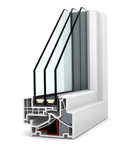 Okno PCV Internorm Home Pure KF 500. Izolacyjność cieplna do 0,61 W/m²K.