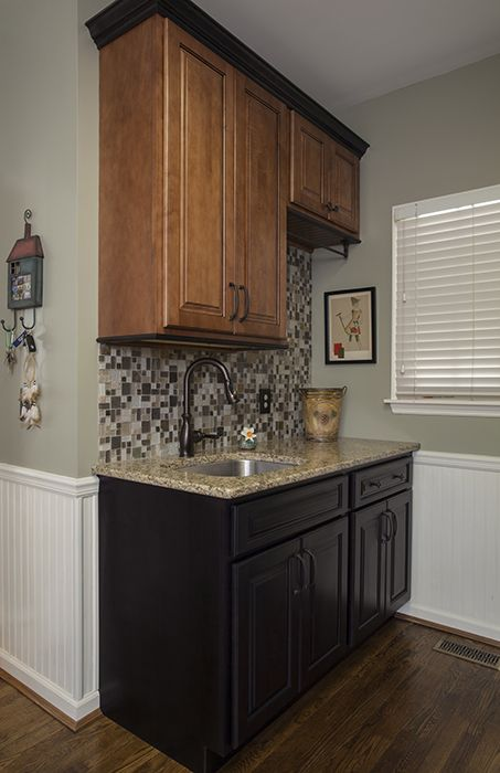 Cabinets: Ginger Maple with Black Glaze & Onyx, Standard ...