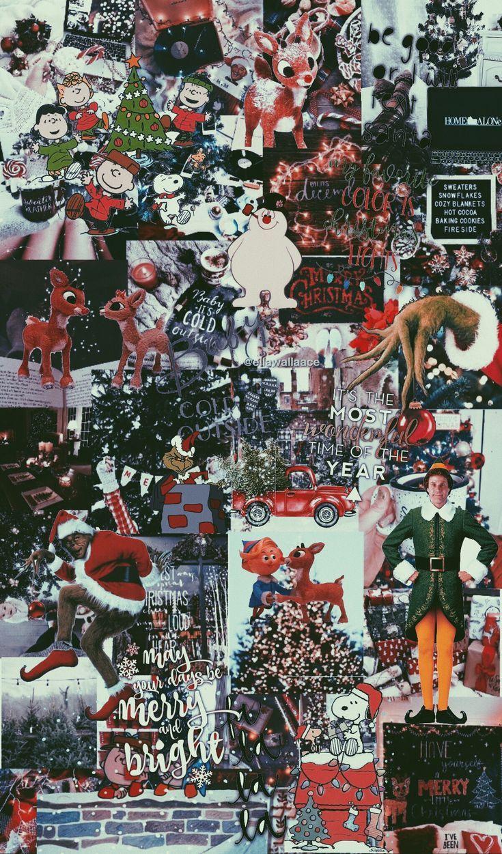 Christmas Wallpaper Collage Cute Christmas Wallpaper Wallpaper