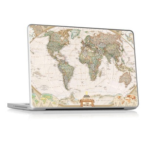 """13"""" MacBook Pro Skin Thee World, $23, now featured on Fab."""