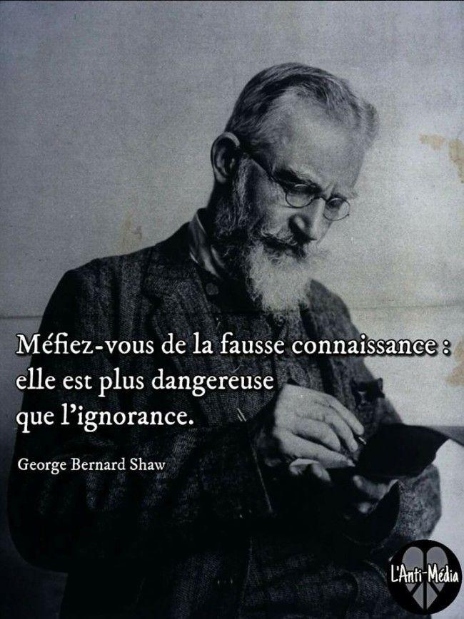 George Bernard Shaw - Méfiez-vous de la fausse connaissance