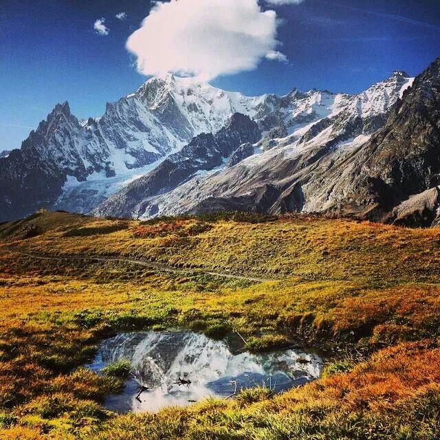 Monte Bianco, Courmayeur Mont Blanc, Aosta, Italia