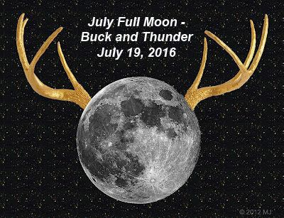 "The summer skies will light up on July 19, 2016 - 6:56 P.M.The full moon in July represents what many natives call ""Thunder Moon"", since July is a time when rains and downpours appear allowing Mother Natu…"