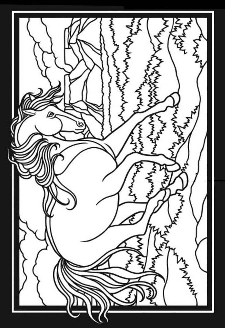 Coloring pages for donna flor - Horse Coloring Page From Coloring Book Horses Dover Publications