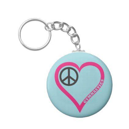 Gymnastics  Heart Keychain - accessories accessory gift idea stylish unique custom