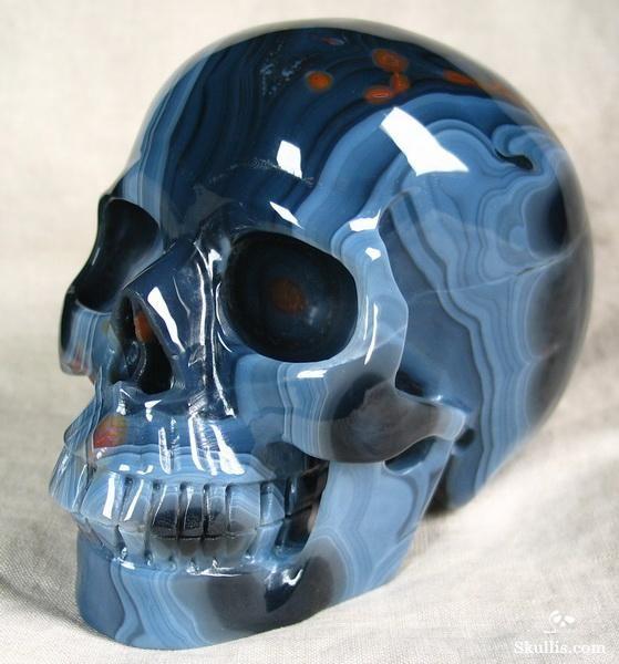 Skulls: Agate Crystal #Skull.