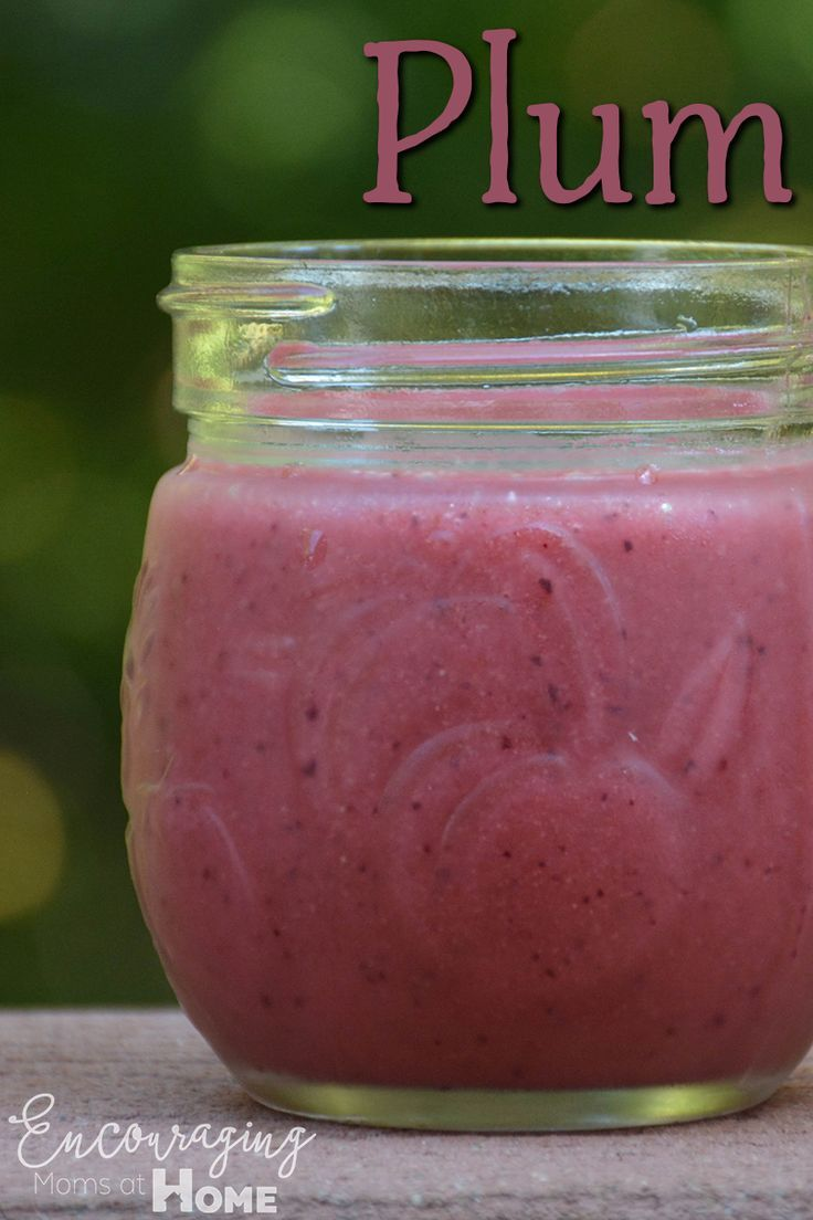Recipe for a plum smoothie with cherries and strawberries and flax.