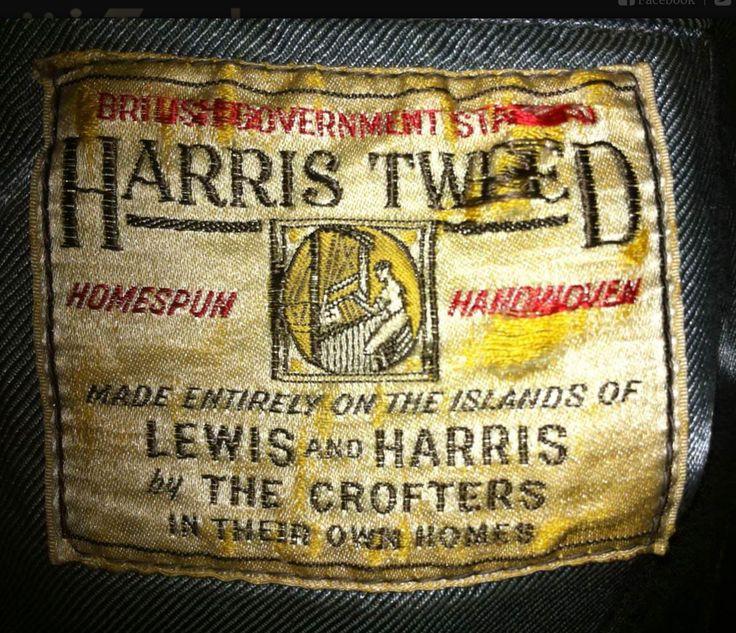 Harris tweed label, ... Harris Tweed Authority.
