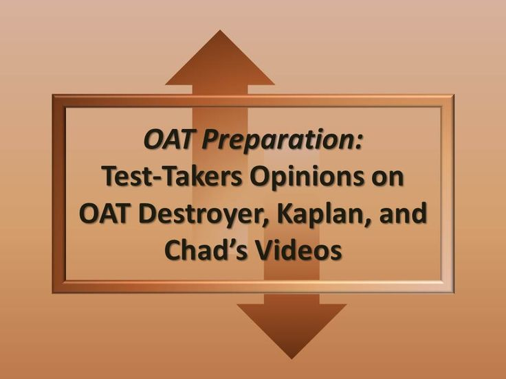 OAT Test Study Guide - Pinterest