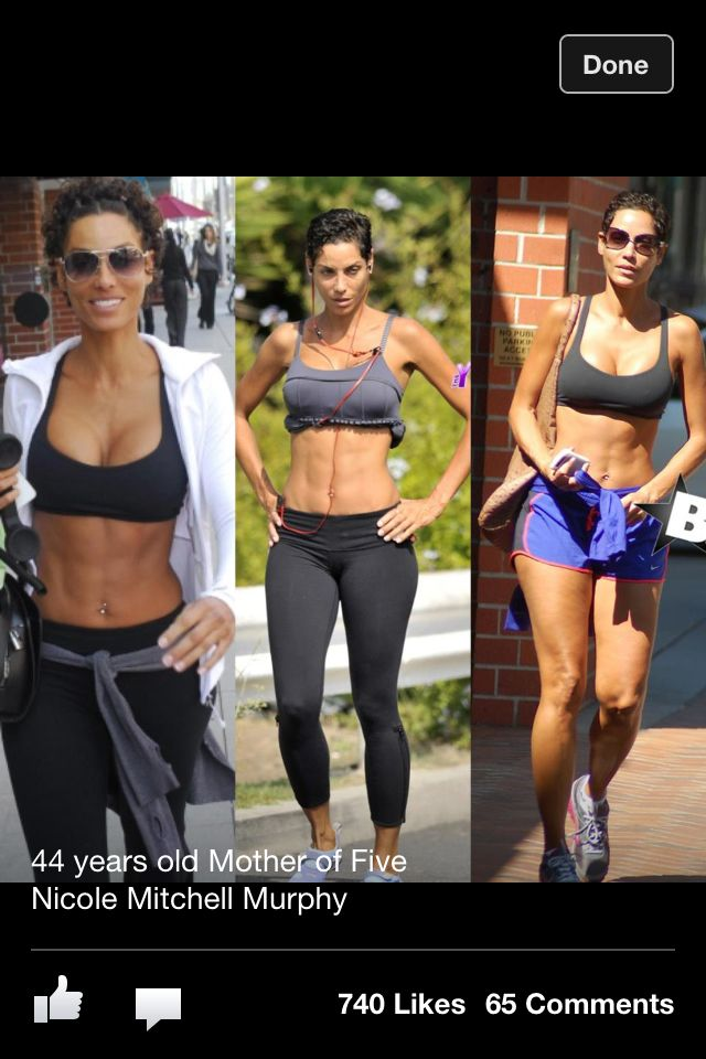 44 years old mother of five Nicole Mitchel Murphy  Now thats motivation