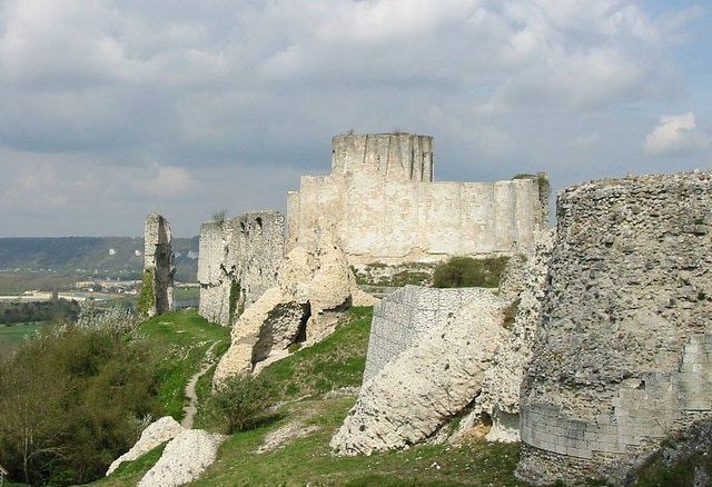 The extraordinary fortress of Chateau Gaillard was constructed by Richard the Lionheart.
