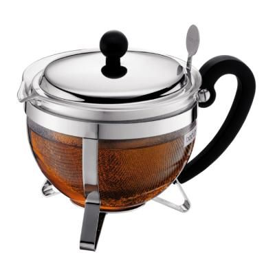 Chambord Tea Pot With Metal Lid And Metal Filter Stainless