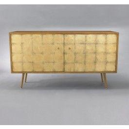 Franklin Media Cabinet - Gold Leaf,$2550.00