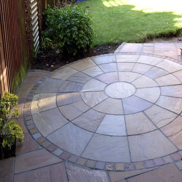 Autumn Brown Indian Sandstone Natural Circle Patio Paving