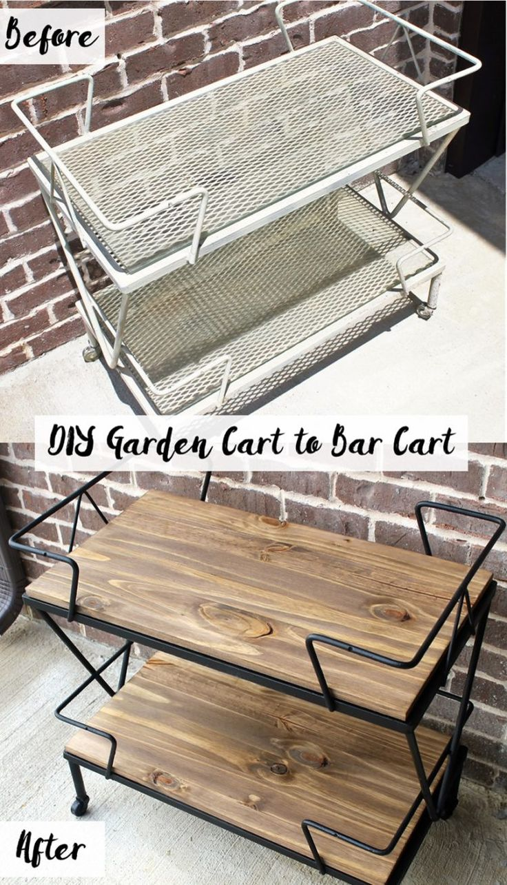 DIY Garden Cart to Bar Cart