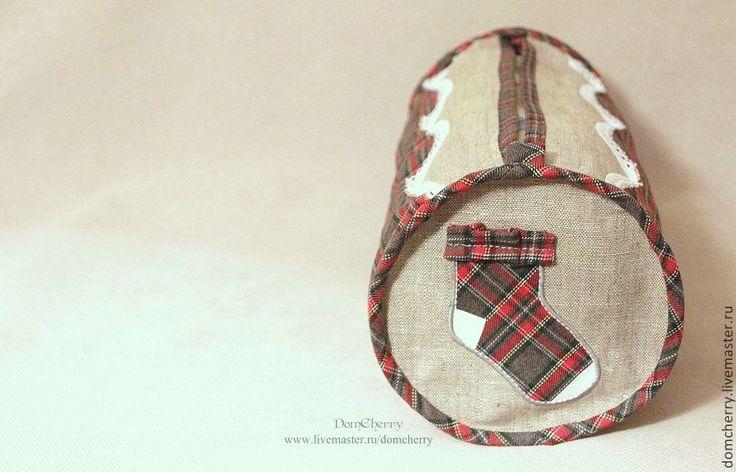 Купить Сумка для носков. Socks/ 015 - в клеточку, хранение белья, хранение мелочей, авторские сумки