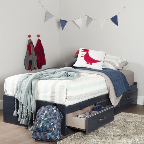Found it at Wayfair - Ulysses Twin Mates Bed with 3 Drawers