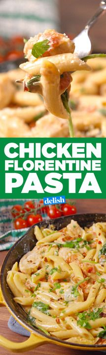 This Chicken Florentine Pasta tastes like it's straight from an Italian restaurant. Get the recipe from Delish.com.