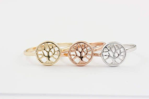 Tree of Life Ring, Silver Tree Ring, Family Tree Ring, Silver Family Tree, Gold Filled Tree Ring, Dainty Silver Ring, Simple Gold Ring, 0416
