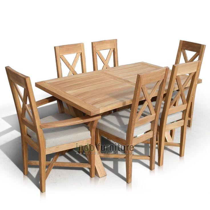 Furniture Jati Meja Makan Set Minimalis | Indo Furniture
