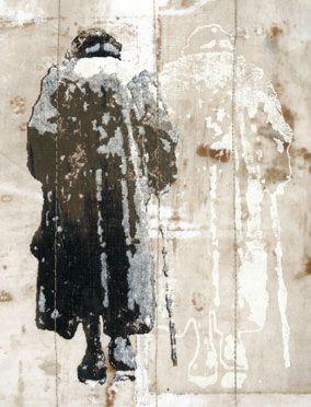 Linda Colsh ~ Finding Her Way, 2006 (mixed media textile art)