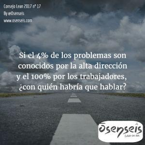 Consejo Lean 2017 nº 17   Osenseis Lean S.L.
