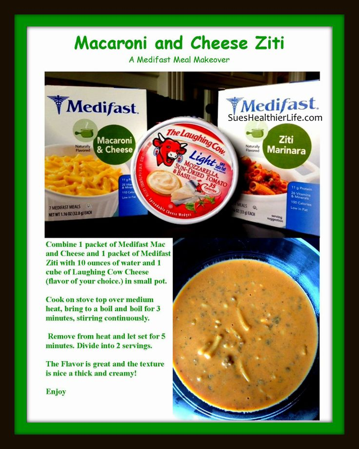 A  #Medifast Meal Makeover Mac and Cheese Ziti