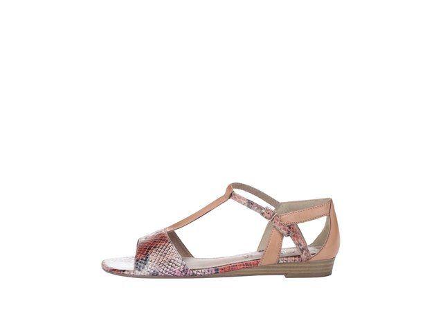 Barevné sandály s páskem přes nárt s.Oliver -