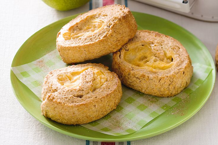 Sweet, fruity and irresistibly creamy, this apple scroll is the perfect accompaniment for tea time.