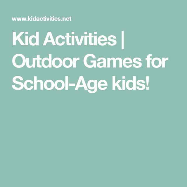 Kid Activities | Outdoor Games for School-Age kids!