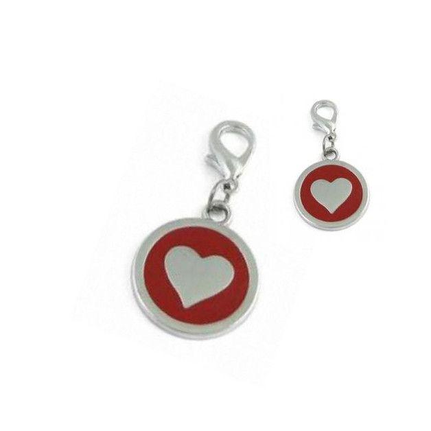 Halsbandanhänger Herz rot  süßer Halsbandanhänger ( Hundemarke ) Motiv:  Herz / Heart   universell verwendbar als z.B.: Halsbandanhänger, Hundemarke, Handyanhänger, Taschenanhänger,...