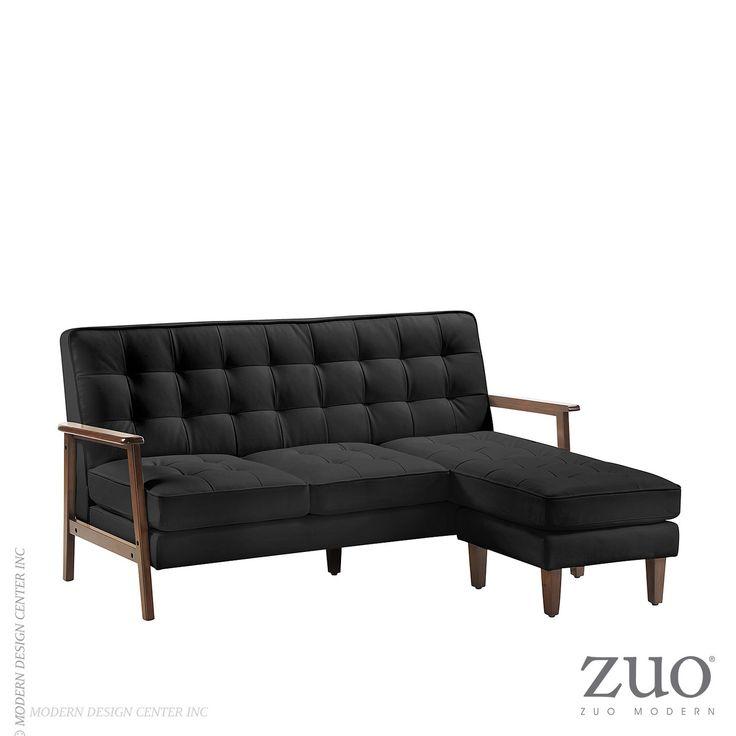 #sectionalsofa #zuomodern #scandinavian #modernclassic #midcentury #bauhaus  Http://www.allmodernoutlet.com/zuo Modern  Soho Flat Flex Sectional Black 900667