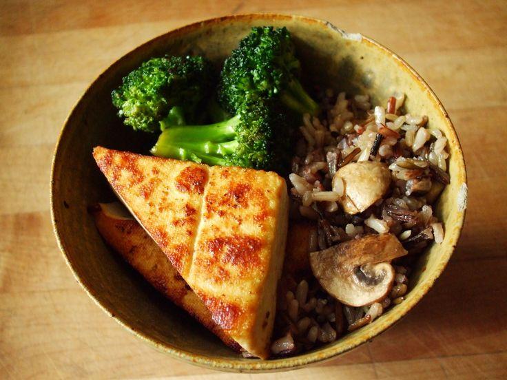 .Brown Rice, Easy Recipe, Vegan Recipe, Healthy Eating, Grilled Tofu, Healthy Recipe, Fast Recipe, Paleo Recipe, Vegan Lunches