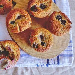 Muffins de frutas vermelhas