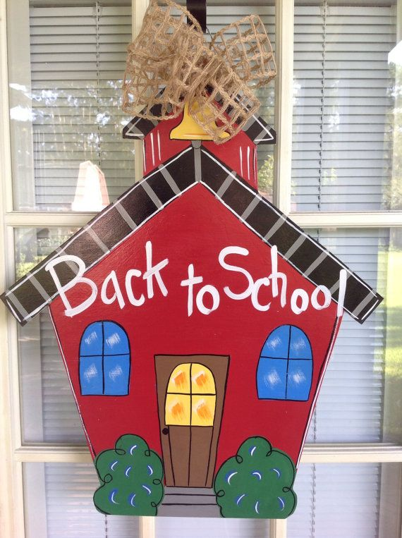 Hey, I found this really awesome Etsy listing at https://www.etsy.com/listing/106318631/back-to-school-door-hanger-school-house