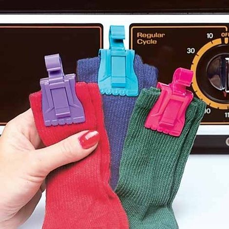 Love these. Socks don't get lost in the washer or the dryer. They also work great for keeping chip bag closed.