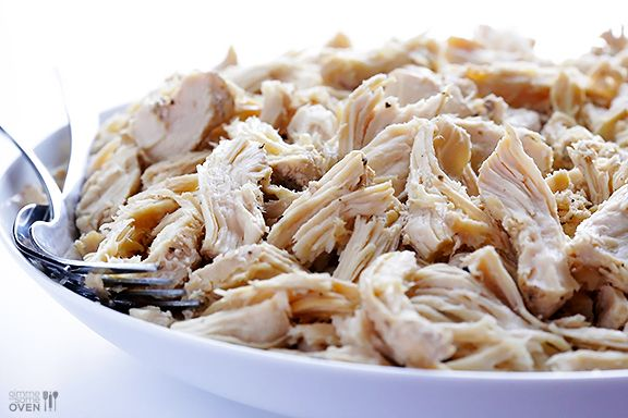Easy Slow Cooker Shredded Chicken for all phases -- make a big batch and freeze for instant dinners later.
