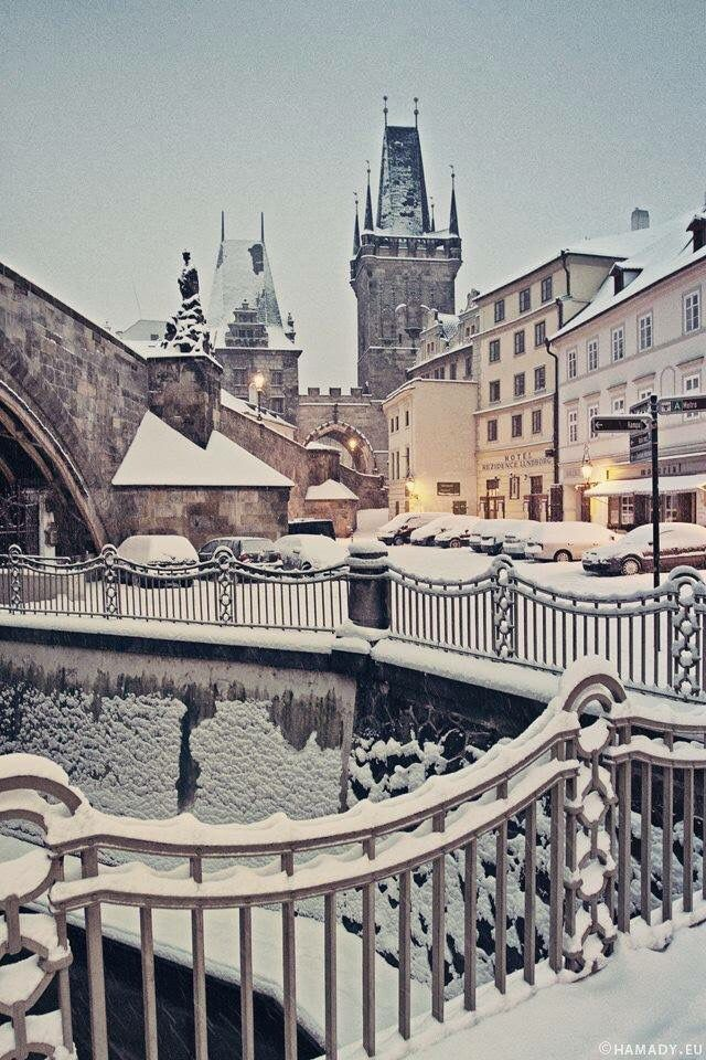 Prague in winter                                                       …