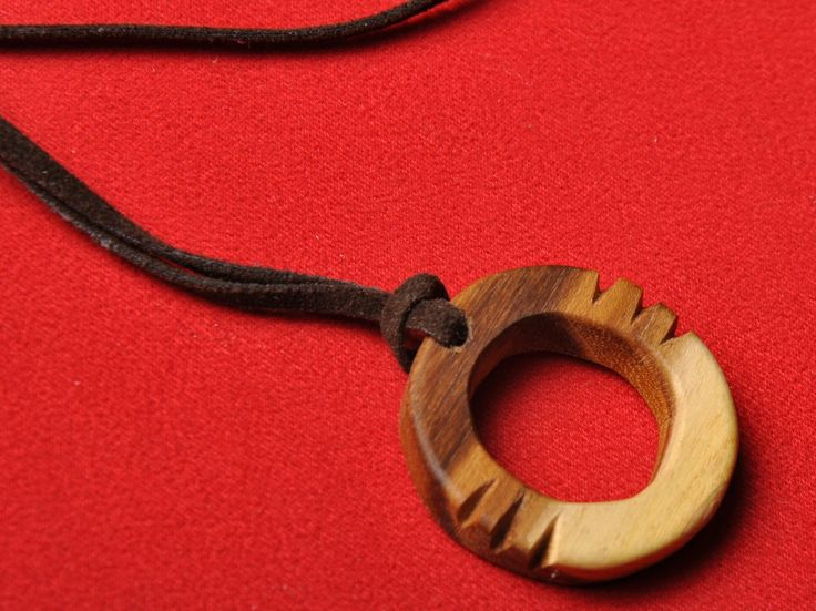 wooden necklace by mojde javadian